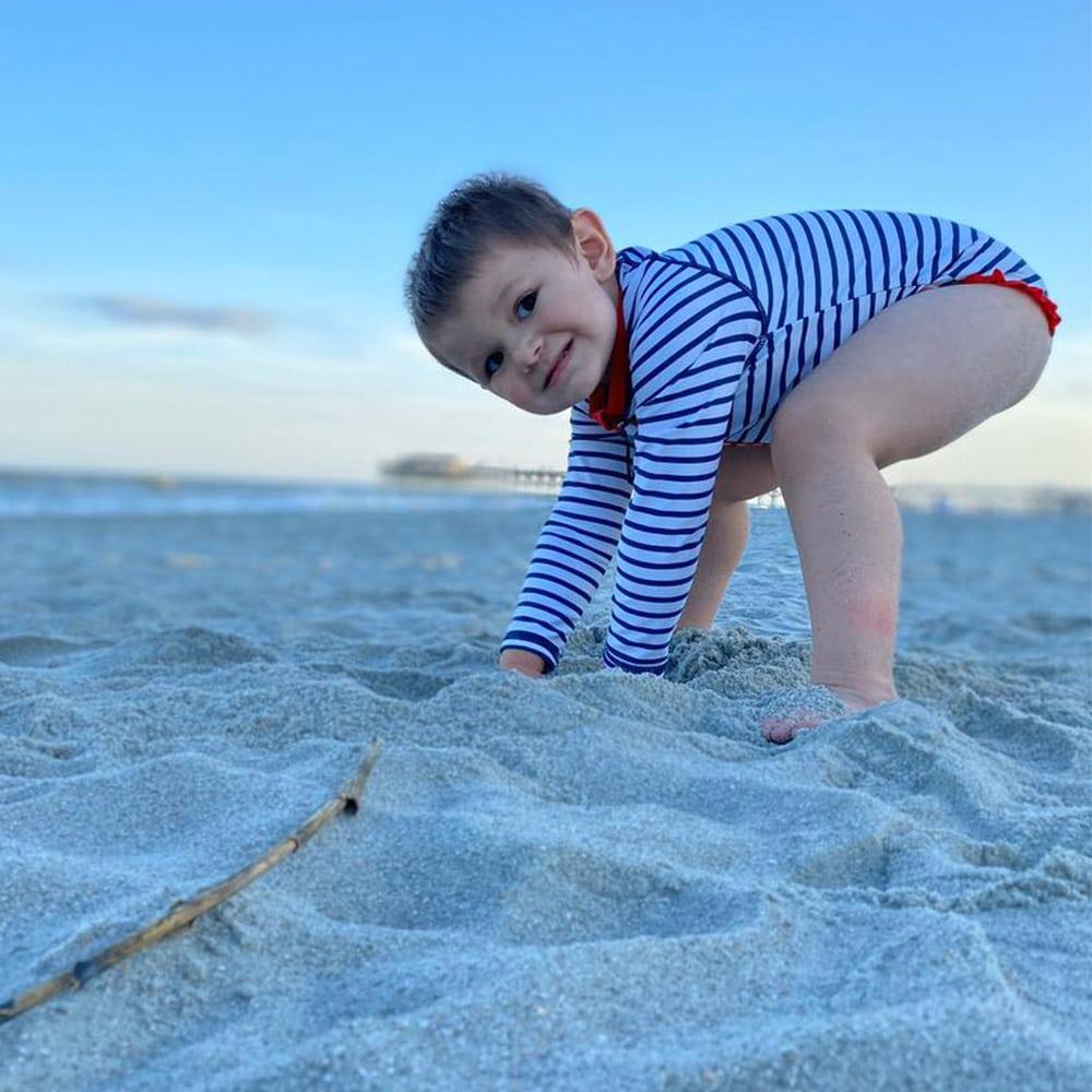 Merritt at the beach
