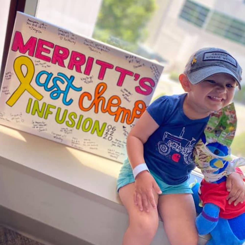 Merritt's last chemo infusion