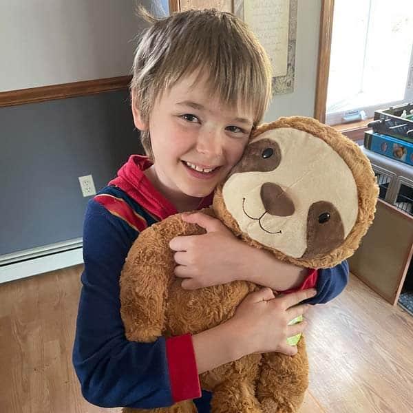 Pediatric cancer survivor Aiden smiling